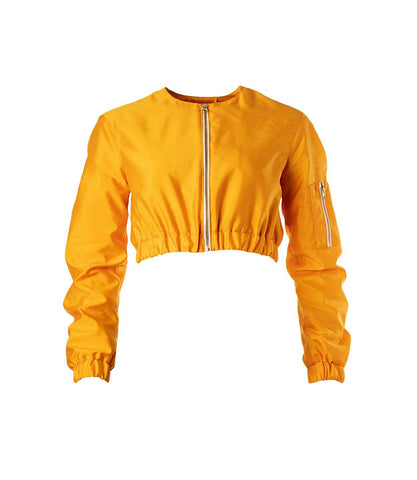 Juicy Cropped Jacket Sweet Tangerine