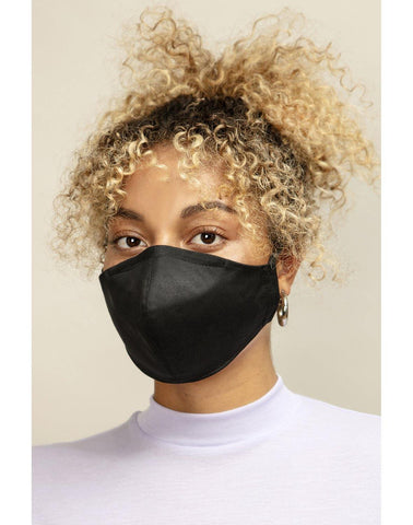 Reusable Face Mask Formed Black - Mahla Clothing