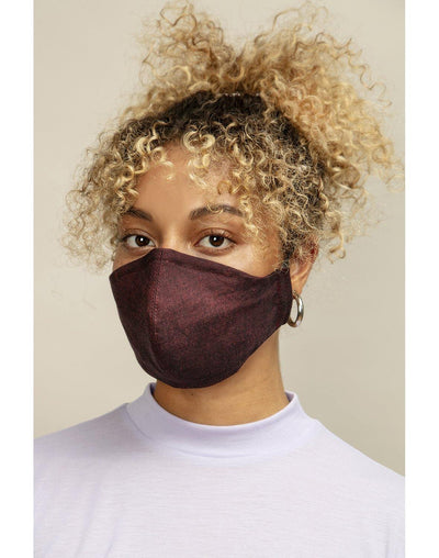 Reusable Face Mask Formed Dark Red - Mahla Clothing