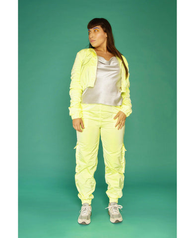 Juicy Cropped Jacket Glowing Lemon - Mahla Clothing