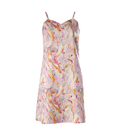 Rainbow Marble Slip Dress
