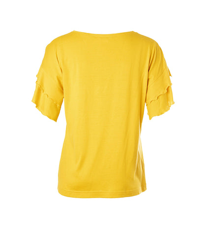 Vuokko T-shirt Mellow Yellow - Mahla Clothing