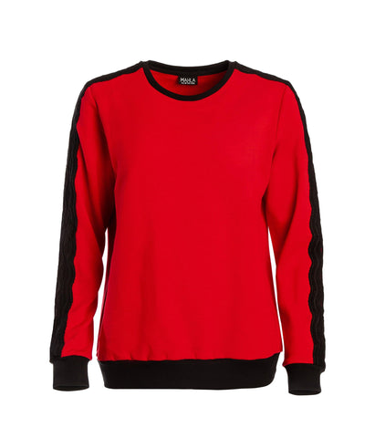 Wavy Sweatshirt Chili Freaking Red