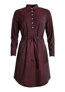 Ulpu Shirt Dress Dark Red