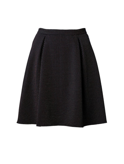 Saima Skirt Navy Dots - Mahla Clothing