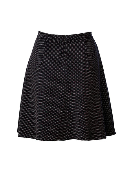 Saima Skirt Navy Dots