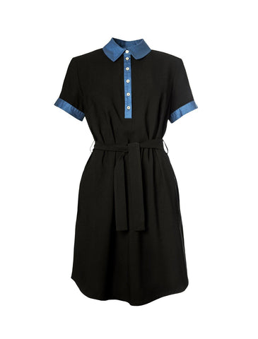 Ulpu Dress Black 'n' Blue