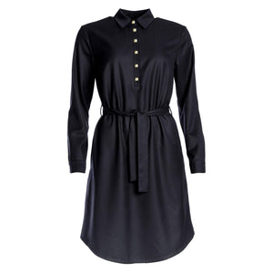 Ulpu Shirt Dress Black