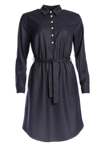 Ulpu Shirt Dress Dark Navy