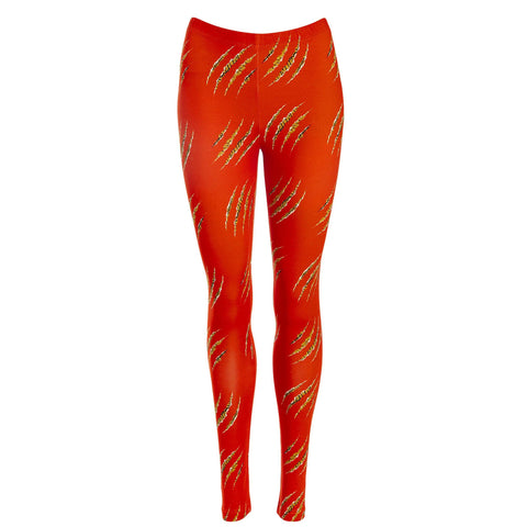 Scratch Leggings Orange Organic Cotton