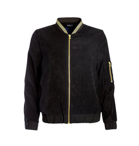 Panthera Bomber Jacket, Black Velvet