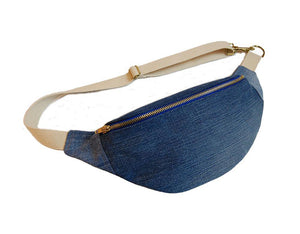 Phoenix Midi Bumbag Blue Denim