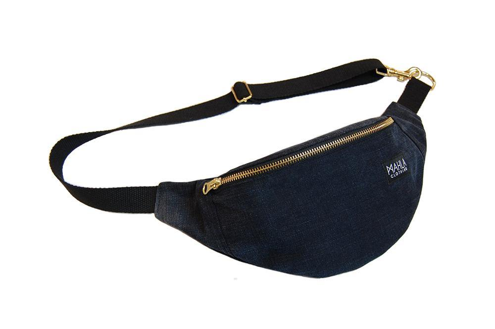 Phoenix Mini Bumbag Dark Blue Denim