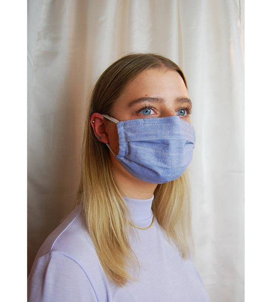 Reusable Face Mask Light Blue