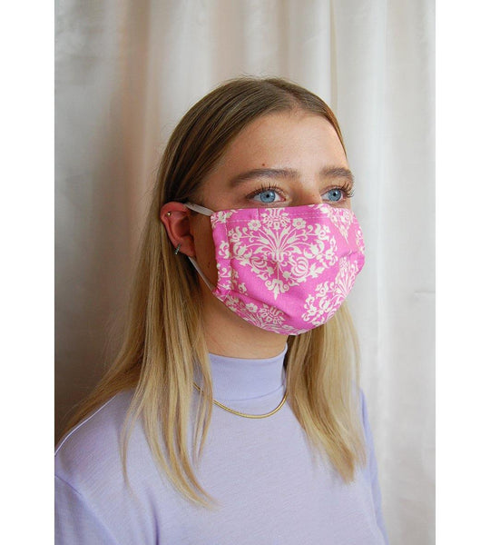Reusable Face Mask Pink Ornaments
