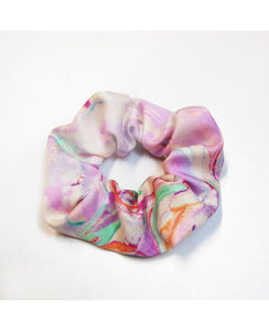 Scrunchie - Rainbow Marble