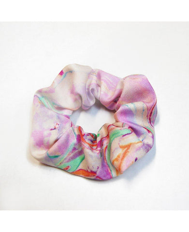 Scrunchie - Rainbow Marble - Mahla Clothing