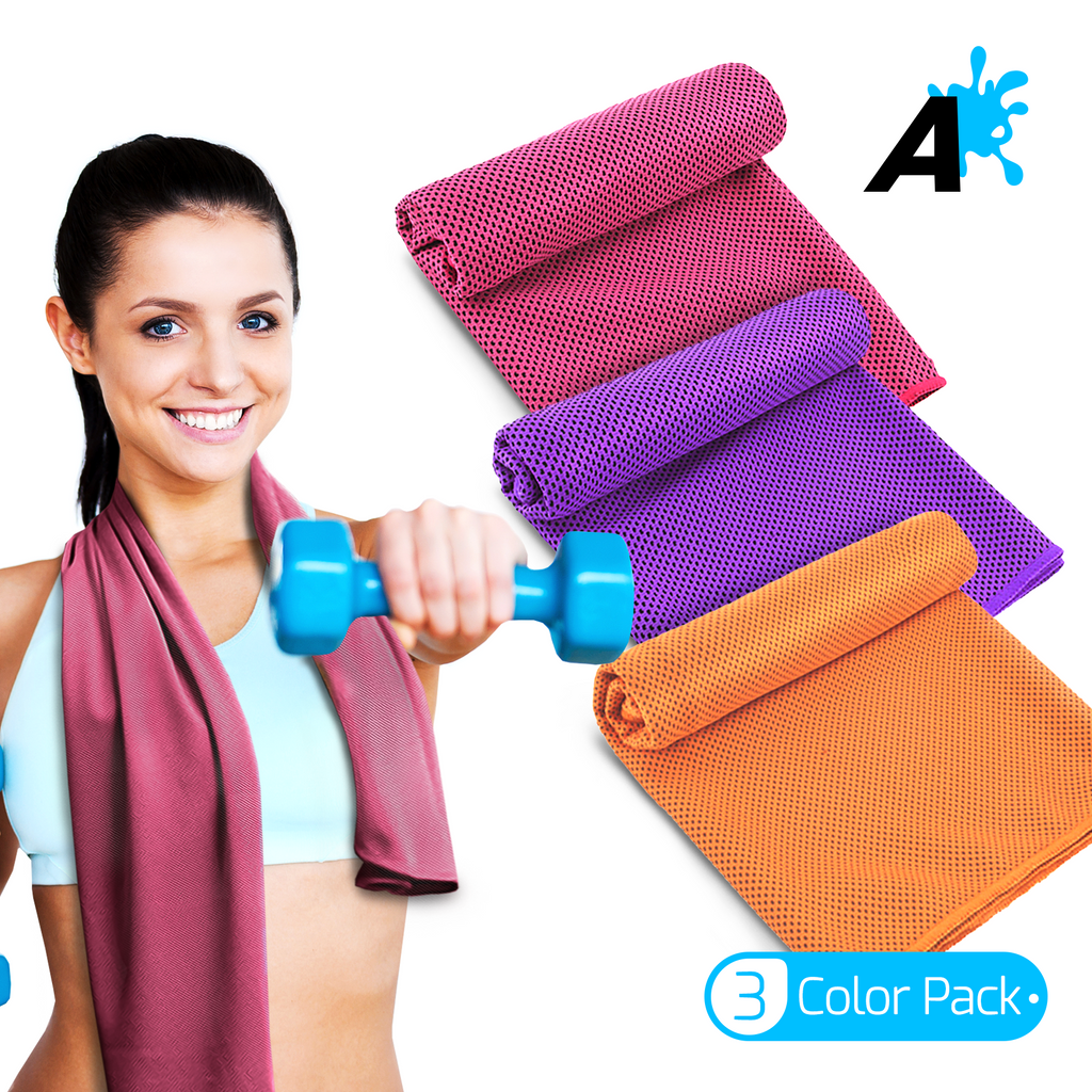 [US] Alien Pros Cooling Towels Pack of 3 Colors (Orange, Pink, Purple)