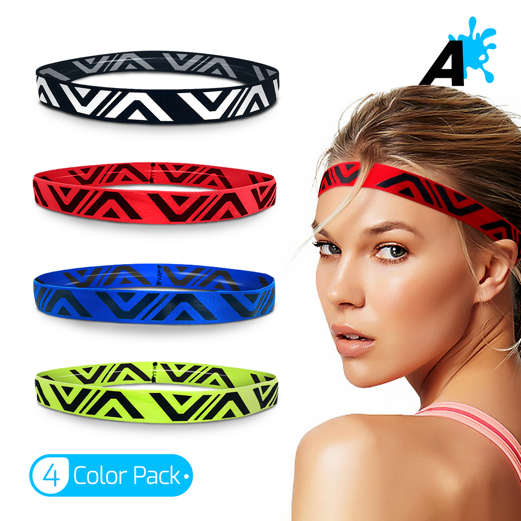 [US] Alien Pros Bling Shiny Headbands for Women Pack of 4 Tribal Style Headbands