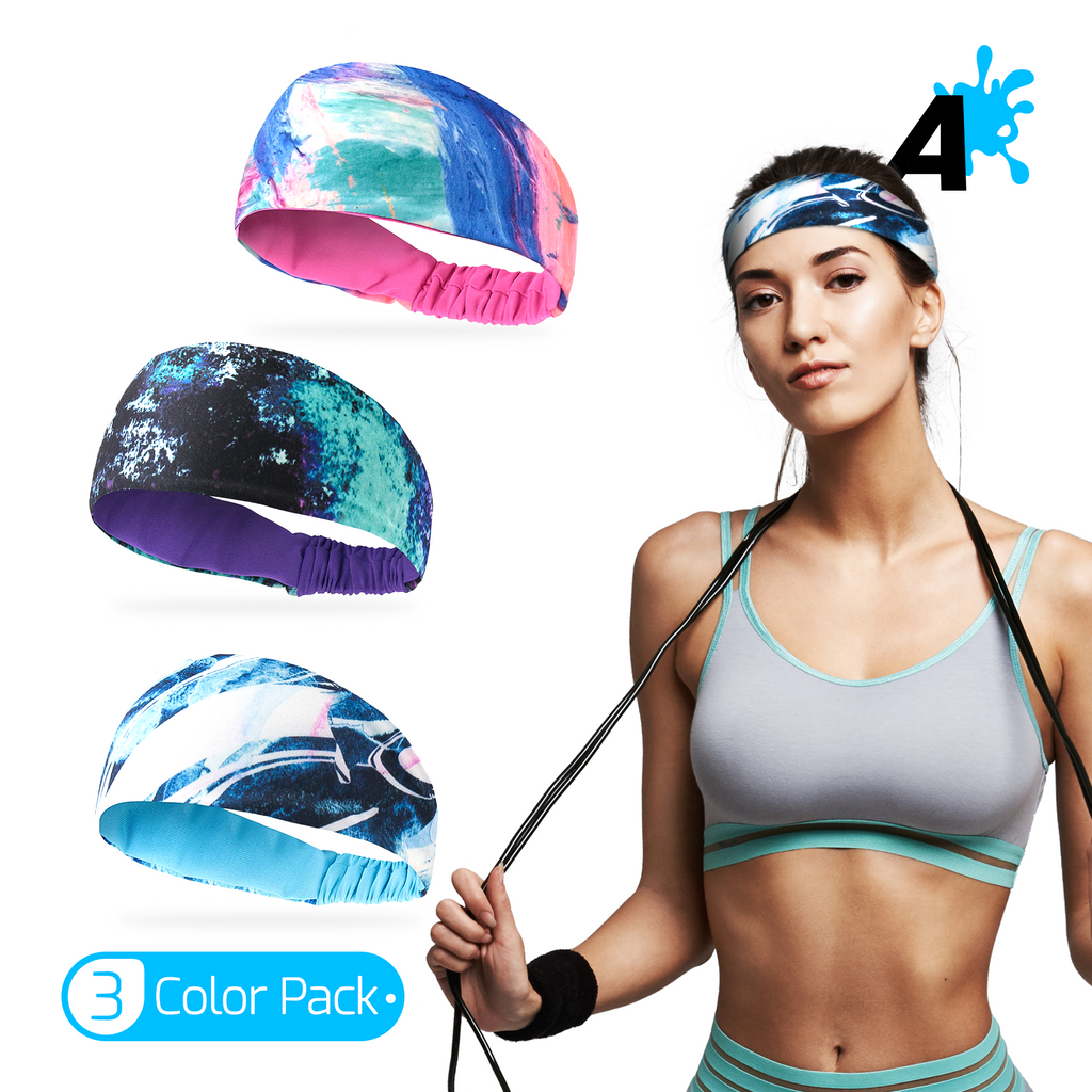 [US] Alien Pros Bling Shiny Headbands for Women Pack of 3 Color/Styles
