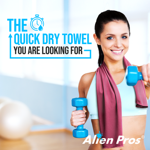 [US] Alien Pros Cooling Towels Pack of 3 Colors (Dark Blue, Light Blue, Grey)