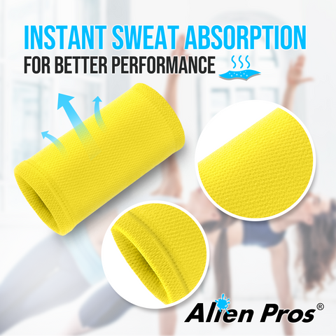 [US] Alien Pros Performance Wrist Bands for Working Out 3 Pairs