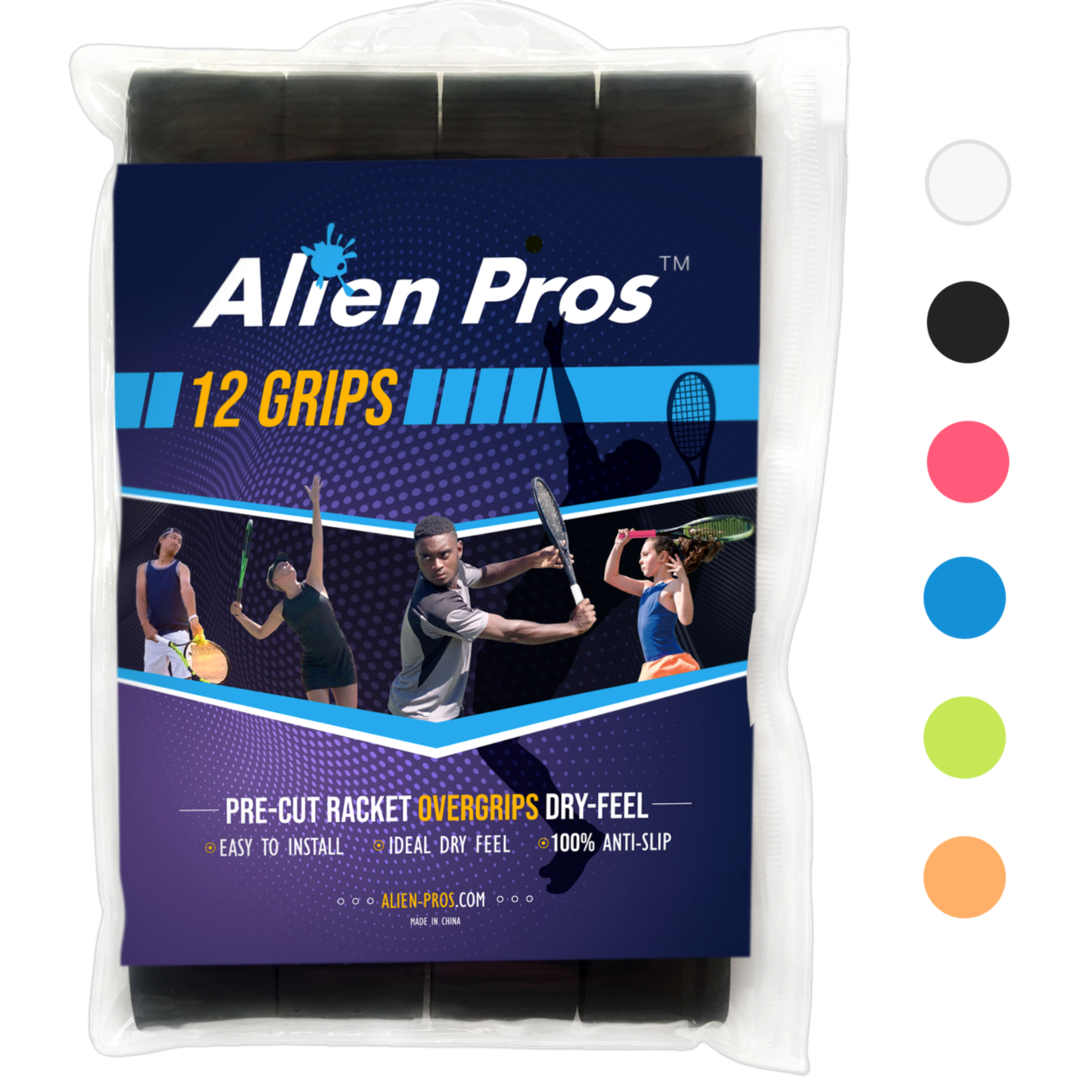 [US] Alien Pros Tennis Racket Grip Tape Basic Dry (12 Grips)