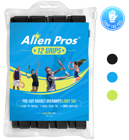 [US] Alien Pros Tennis Racket Grip Tape Light Tac (12 Grips)