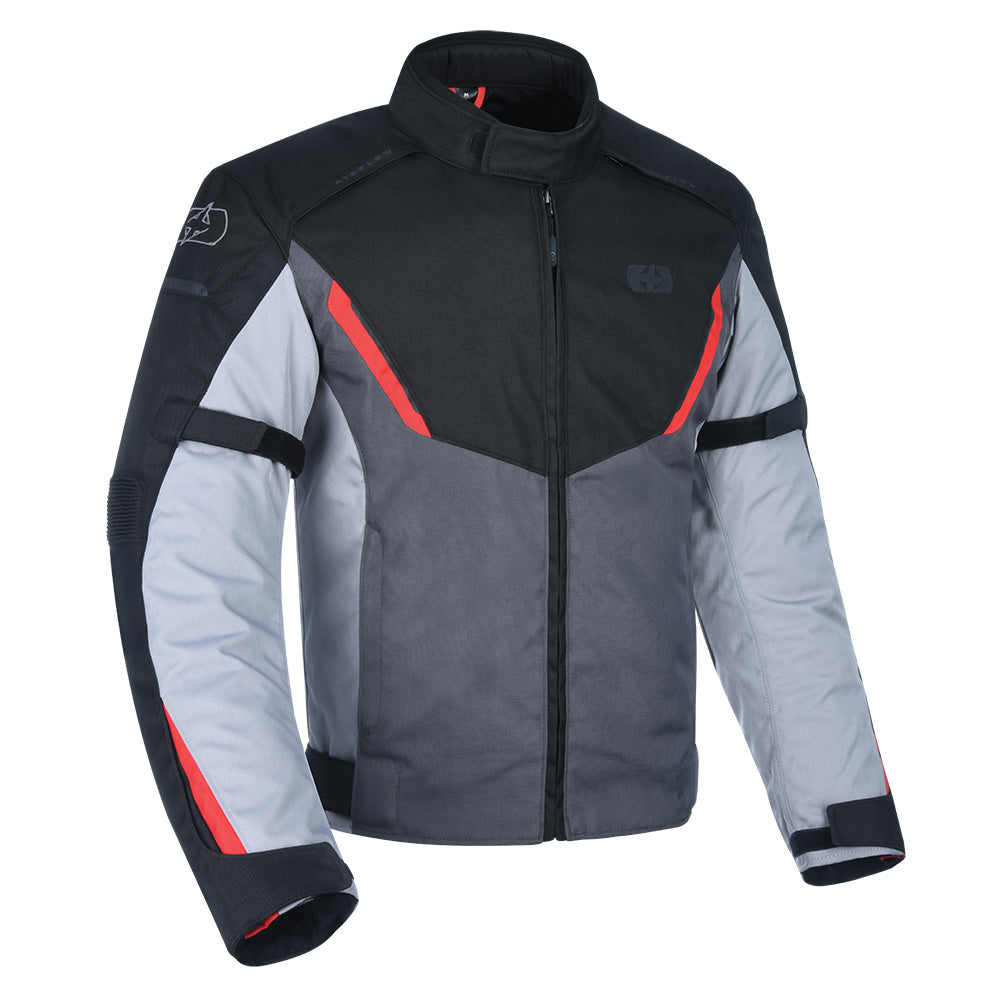 Oxford Delta Jacket Black Grey & Red