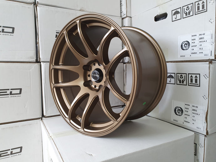 D-speed DS02 18x9.5 +22 5x114.3 Dark Satin Bronze
