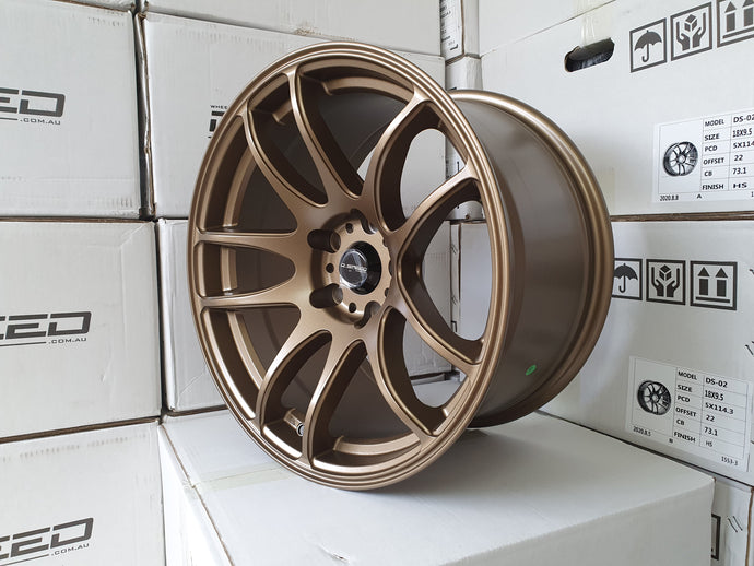 D-speed DS02 17x9.5 +20 5x114.3 Dark Satin Bronze