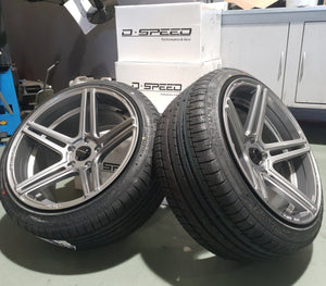 Dspeed DS-03 18inch wheels in DARK Gunmetal finish