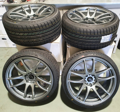 D-speed DS-02 19inch Dark Gunmetal Wheel and tyre packages