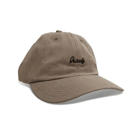 BONÉ GRIZZLY MINI CURSIVE DAD HAT MARROM - Matriz Skate Shop