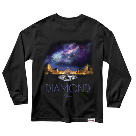 CAMISETA DIAMOND LOUVRE PIRAMID LS | C20DMPC004 - Matriz Skate Shop