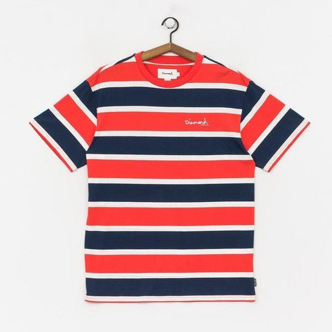 CAMISETA DIAMOND MINI OG SCRIPT STRIPED - Matriz Skate Shop