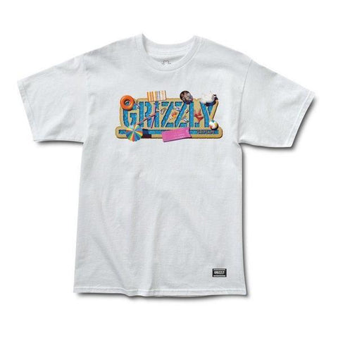 CAMISETA GRIZZLY POOL PARTY - Matriz Skate Shop