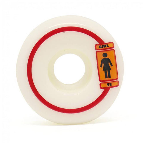 RODA GIRL 93 TIL 53MM - BRANCO - Matriz Skate Shop