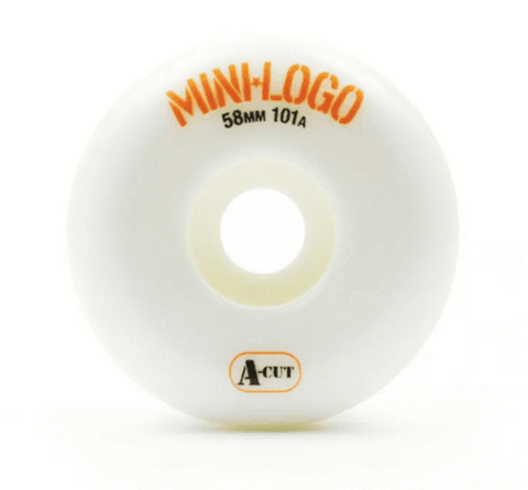 RODA MINI-LOGO A-CUT - BRANCO 58MM - Matriz Skate Shop