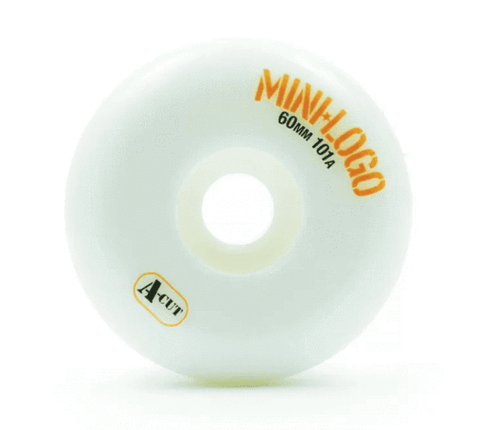 RODA MINI-LOGO A-CUT - BRANCO 60MM - Matriz Skate Shop