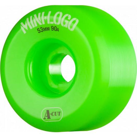 RODA MINI-LOGO A-CUT - VERDE 53MM - Matriz Skate Shop
