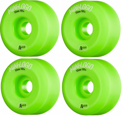 RODA MINI-LOGO A-CUT - VERDE 55MM - Matriz Skate Shop