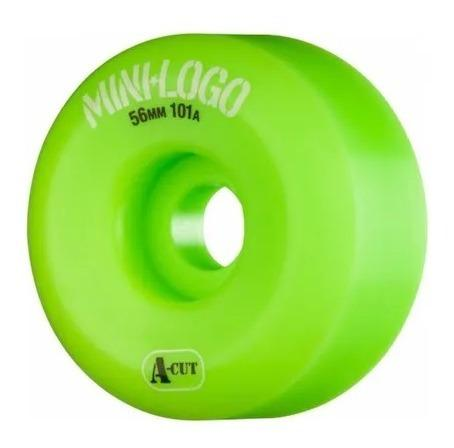 RODA MINI-LOGO A-CUT - VERDE 56MM - Matriz Skate Shop