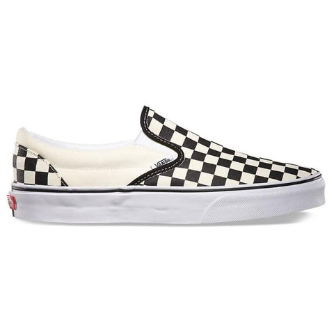 TENIS VANS CLASSIC SLIP-ON BLK&WHTCHCKERBOARD/WHITE - Matriz Skate Shop