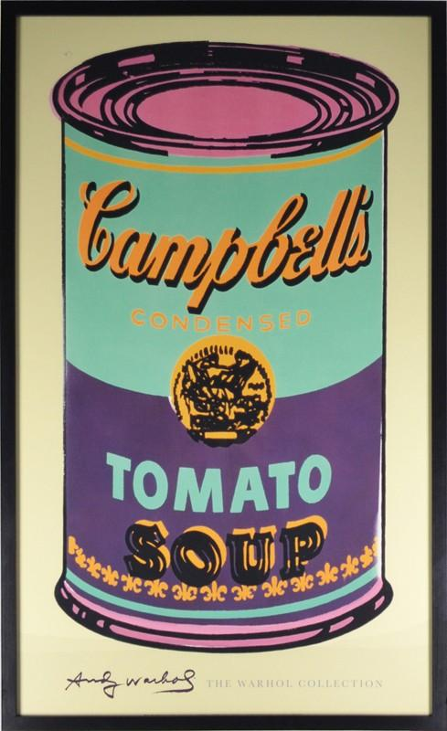 Campbell's Soup Can (Green & Purple) By Andy Warhol - Mail Order Art