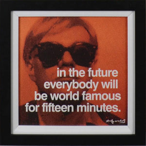 Fifteen Minutes By Andy Warhol - Mail Order Art