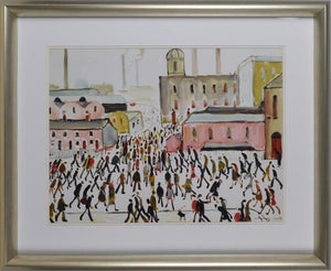 Going To Work By L.S. Lowry