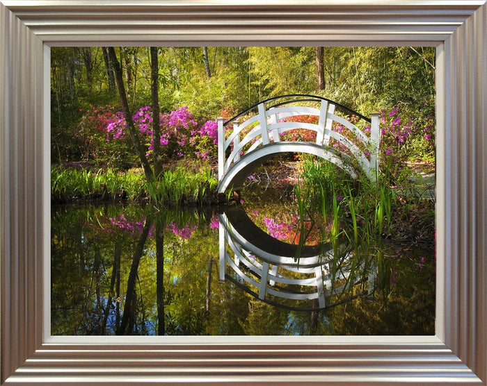 Azalea Flowers By The Pond - Mail Order Art