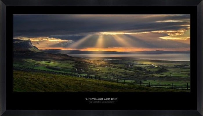 Binevenagh God Rays (Small) By Tony Moore - Mail Order Art