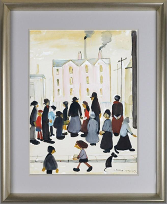 Group Of People By L.S. Lowry